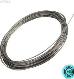 get quotations skemidex 304 stainless steel cable wire rope 1 16 1 6mm [ 1200 x 1200 Pixel ]