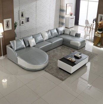 sectional sofa u shaped contemporary slipcovers 2015 modern grey white shape leather in stock sl0006