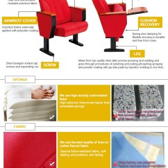 Low Back Chairs For Concerts Accent Chair Ottoman Factory Price Auditorium Concert Hall With Writing Board