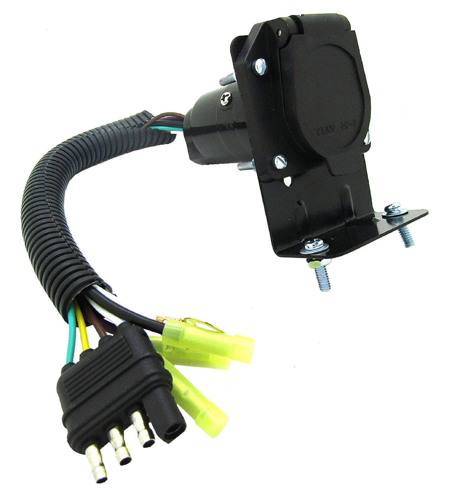 hight resolution of get quotations anto new 4 wire flat to 7 way rv trailer light custom plug wire harness electrical