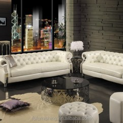 Chesterfield Sofa Modern Colors For Small Living Room Jr301 Contemporary White Genuine Thick Leather Crystal ...