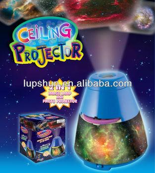 Plastic 2 In 1 Ceiling Projector & Night Light Slide