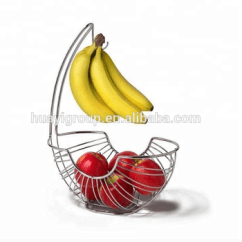 Fruit Basket For Kitchen Design New Layout Hanging Wire Bowl Bin Apple Banana Protector Food Storage
