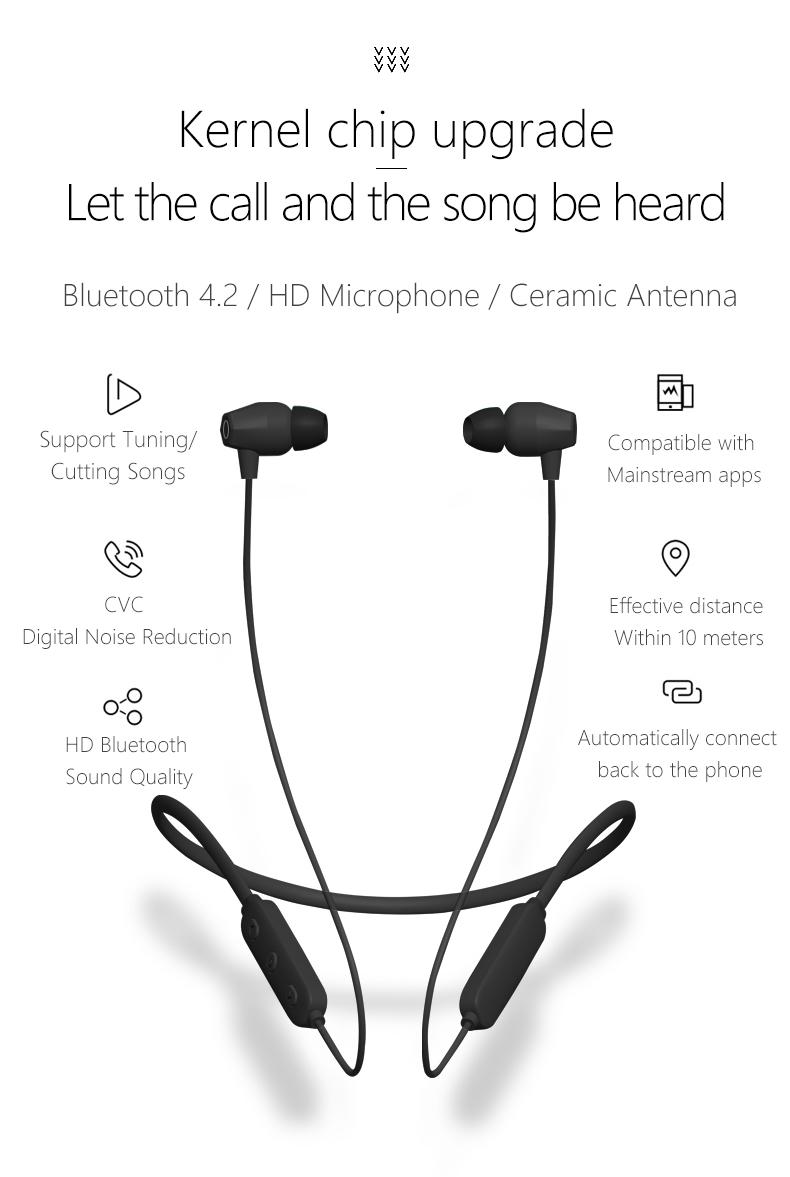 2018 Trend A6 Wireless Sport Bluetooth Neckband Headset