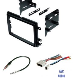 get quotations asc audio car stereo radio install dash kit wire harness and antenna adapter to [ 1200 x 1558 Pixel ]