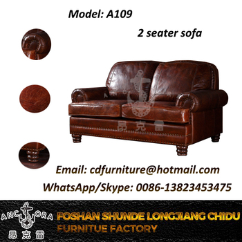 vintage leather sofa company inexpensive industrial home furniture cushion set a109 2