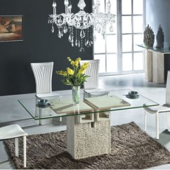High End Living Room Furniture Indian Tv Unit Designs Hot Sale Glass Top Marble Base Dining Table ...