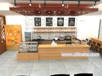 Elegant food counter wood coffee shop furniture