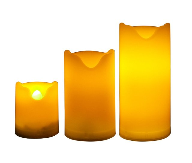 Candle Choice Set Of  Long Lasting Indoor And Outdoor Flameless Candles With Timer Small Size Led Candles With Timer Battery Operated Candles With