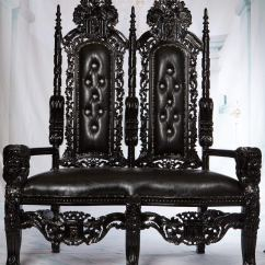 Black Gothic Throne Chair Potty For Older Child Cheap Chinese Find Deals On Line Get Quotations King David High Back Love Seat Lion Queen Wedding