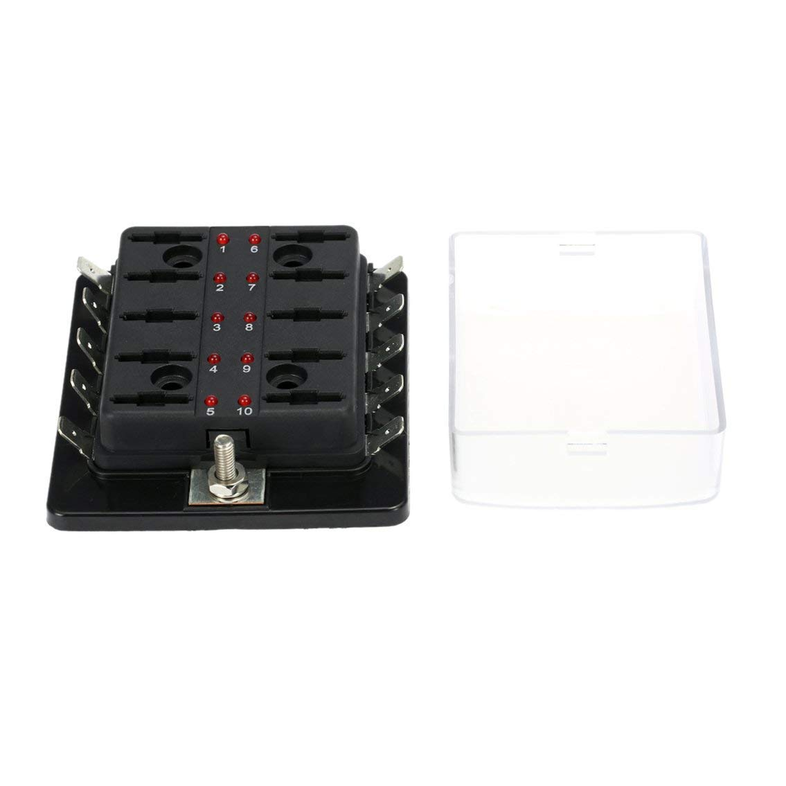 hight resolution of get quotations mazur 10 way car blade fuse box holder with red led warning light for car vehicle