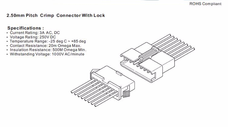 Jst Sm 2.5mm Connector 2-12pin Male Female 3 Pin Sm