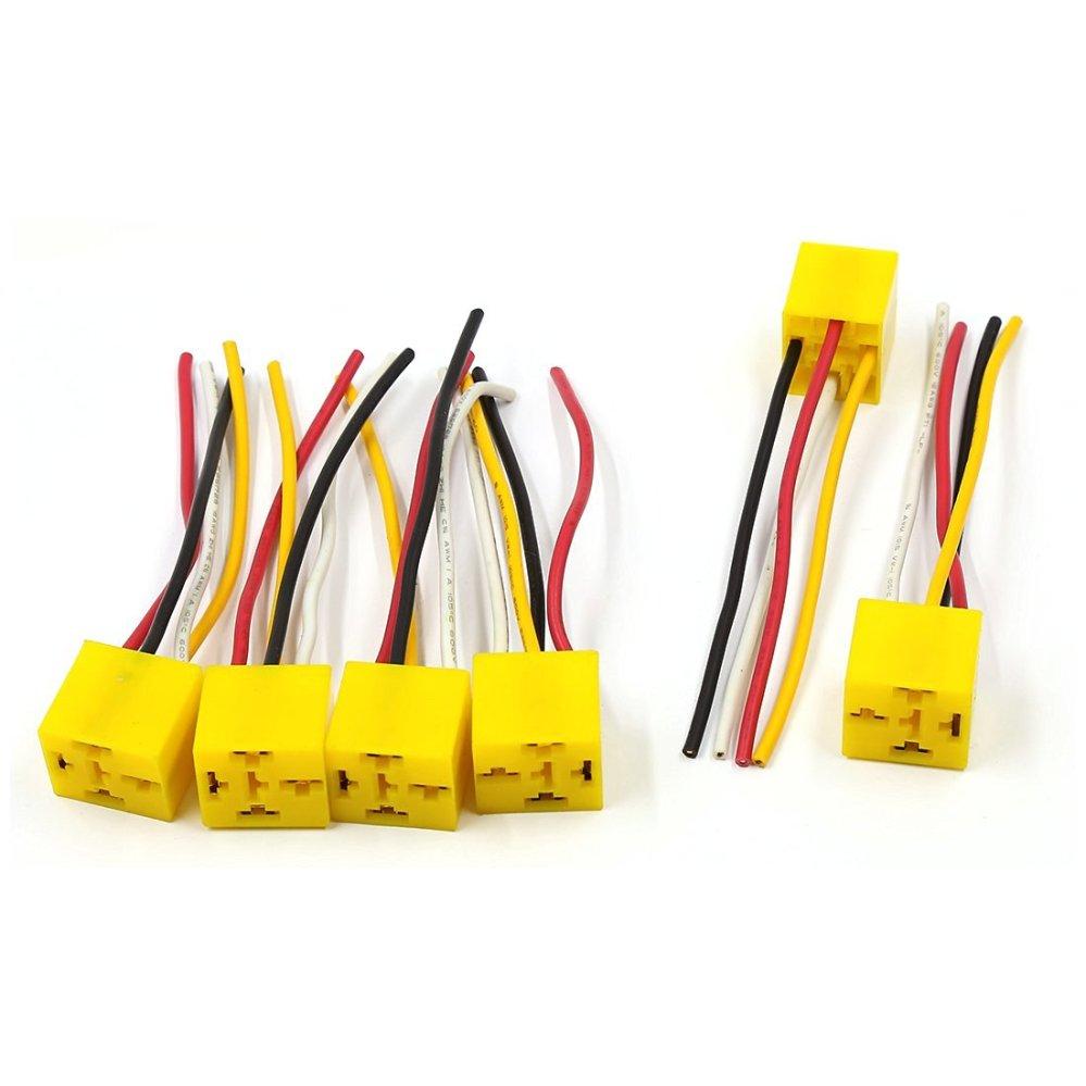 medium resolution of uxcell 6 pcs 4 pins automotive car wiring harness relay socket holder dc 12v