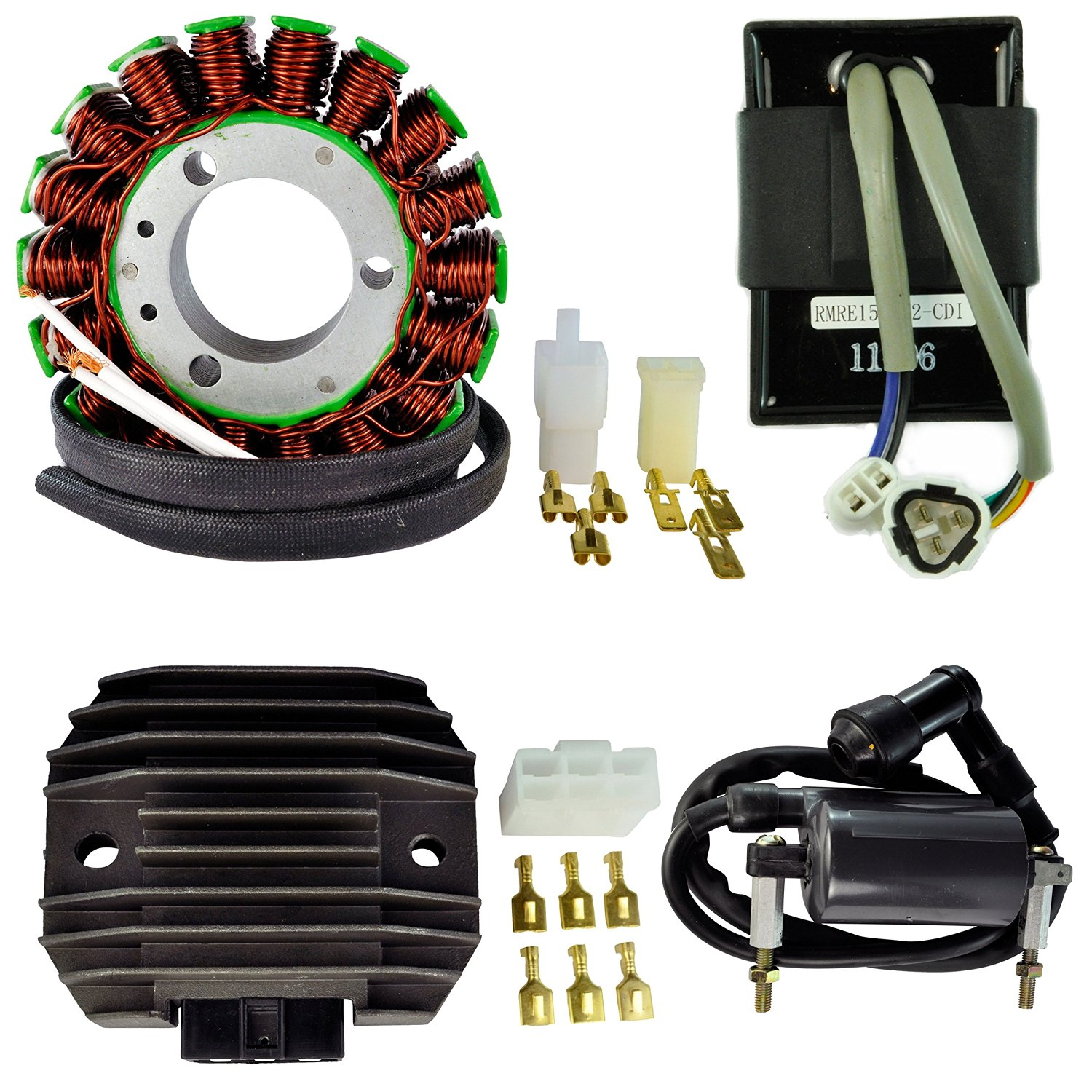 hight resolution of get quotations kit stator voltage regulator rectifier cdi box hp external ignition coil for kawasaki