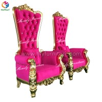 Wholesale antique wooden carved mahogany high back gold ...