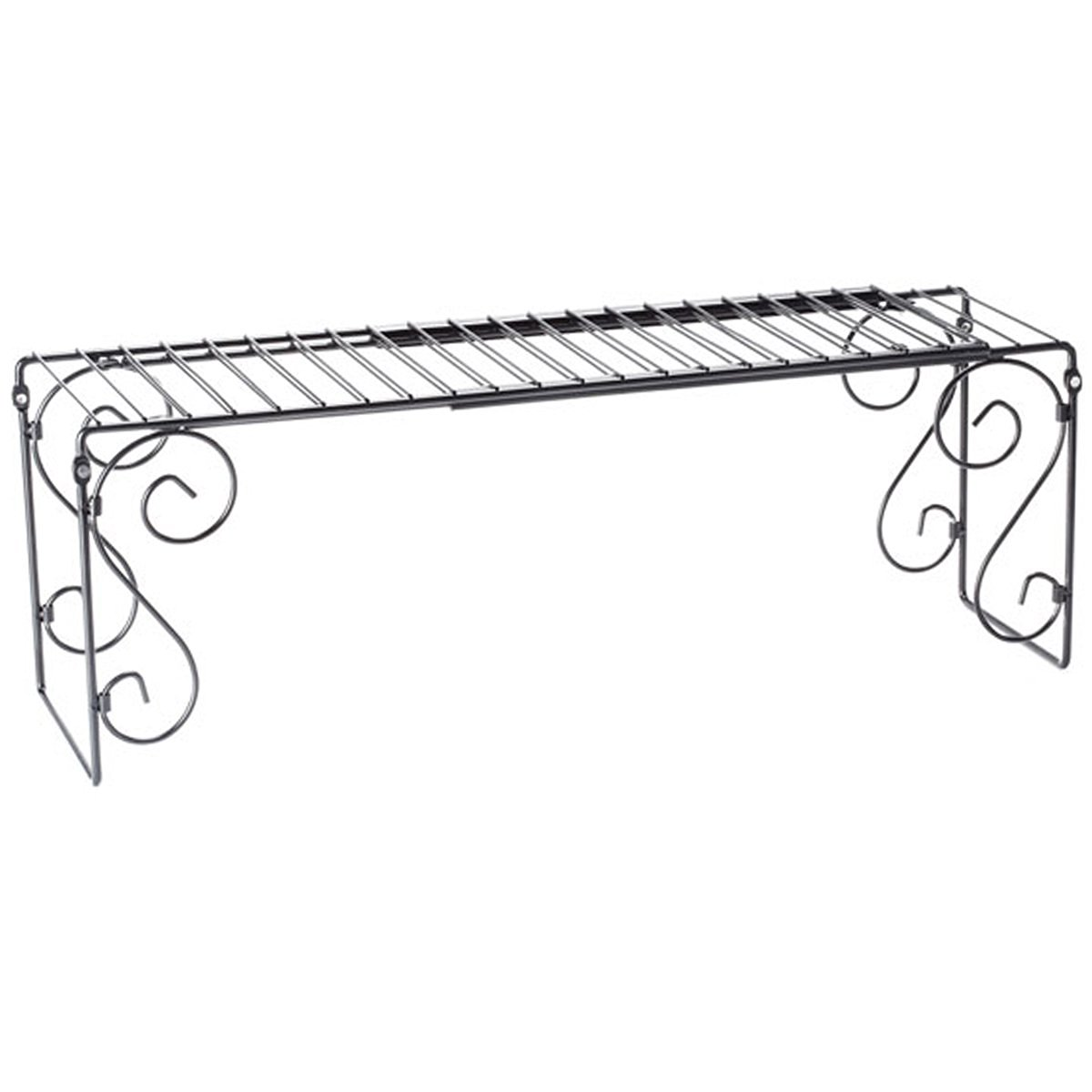 Buy Black Metal Expandable Over The Sink Shelf Storage