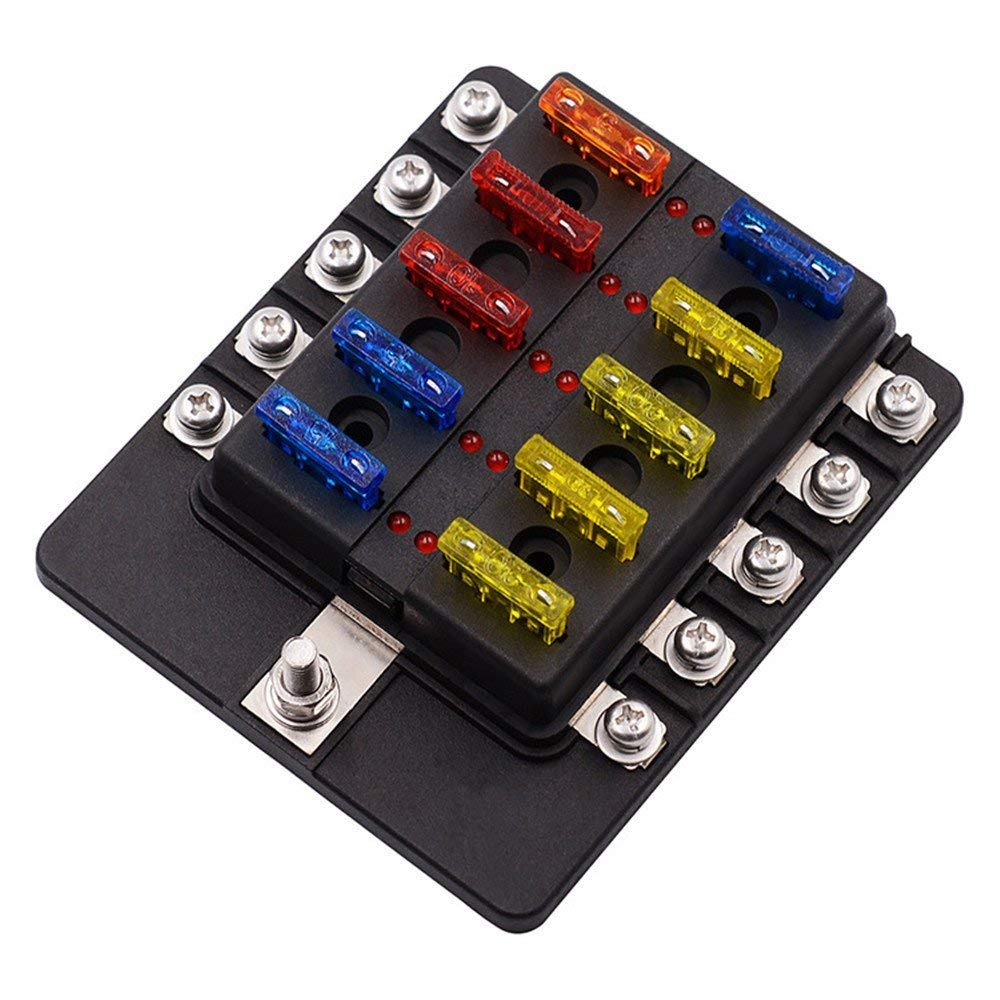 medium resolution of get quotations blade fuse box holder miya led 10 way car marine blade fuse block 5a 10a