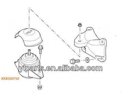 Land Rover Discovery Defender Td5 Engine Mount Mounting