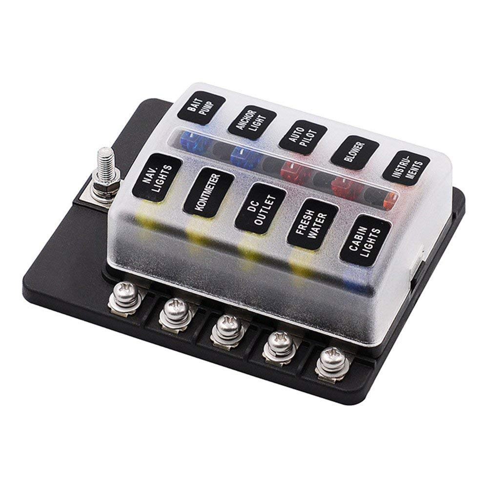 hight resolution of get quotations 10 ways fuse box meiliio block holder circuit car fuse box with cover led