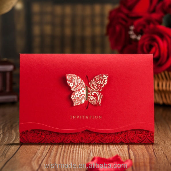 Chinese Unique Design Wedding Invitation Card Cw504 On Alibaba