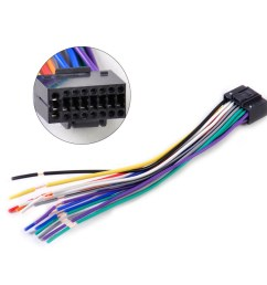 car radio stereo wire harness cd plug cable 16 pin connector fit for kenwood [ 1000 x 1000 Pixel ]