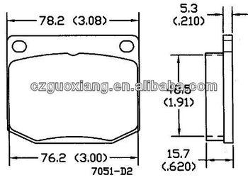 Auto Spare Parts Front Brake Pads D2 For Saab/triumph 99