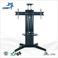 New Telescopic Free Standing Swivel Tv Stand 360 With ...