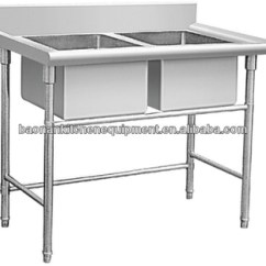 Stainless Steel Kitchen Table Reface Commercial Sink Double Bn S26 Buy Product On Alibaba