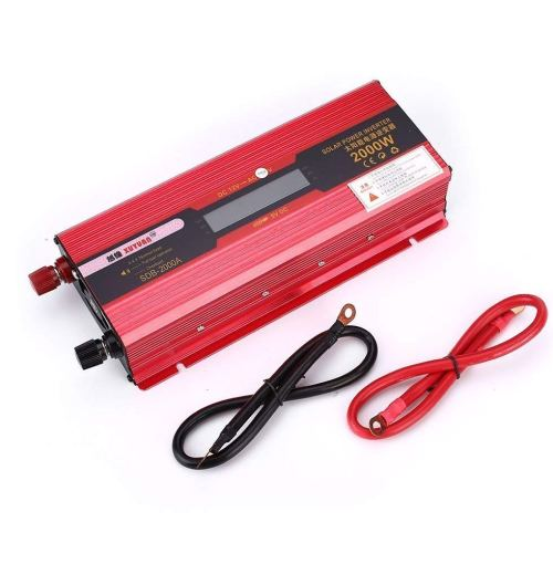 small resolution of get quotations car inverter power inverter 2000w solar inverter adapter high frequency led display