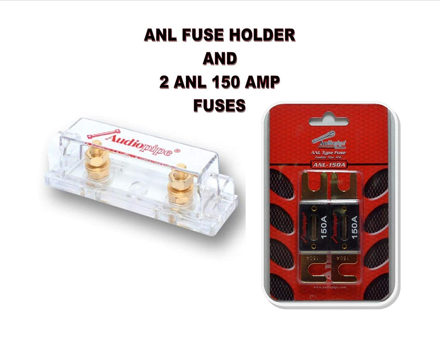 hight resolution of get quotations audiopipe heavy duty anl fuse holder block cq 1100 and 2 anl150
