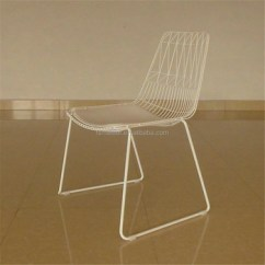 Metal Stacking Chairs Outdoor Folding Chair Decorative Covers Pu Seat Modern Anti Rust Tubular Garden Wire