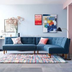 Good Quality Sectional Sofas Futon Sofa Bed Cheap High Rounded Retro Living Room Left Arm Fabric Upholstery