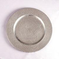 Silver Color Wedding Disposable Plastic Plates - Buy ...