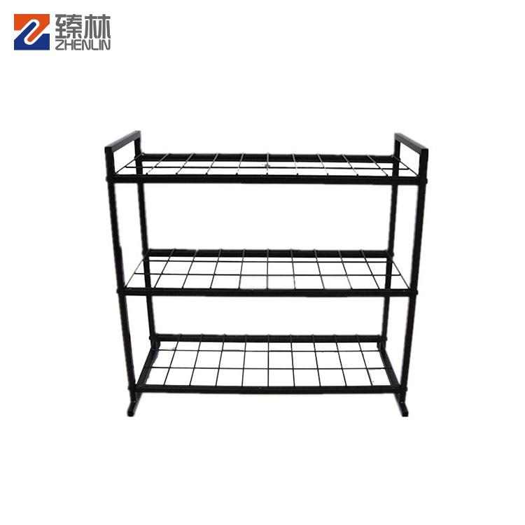 Customized Floor Metal Wire Battery Display Rack / Display