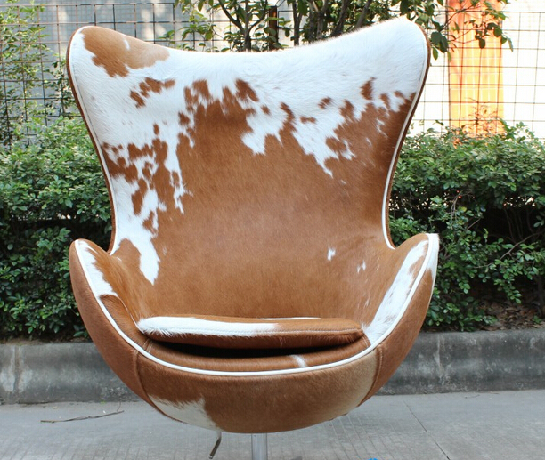 jacobsen egg chair leather reclining theater chairs modern furniture wool fabric lounge replica pony skin arne genuine
