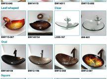 Leaf Shape Golden Colour Fiber Glass Sink Counter Tops ...