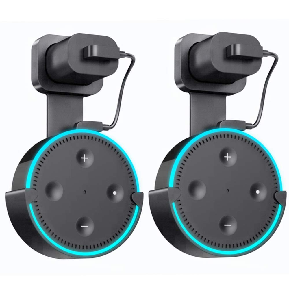 hight resolution of get quotations wall mount hanger holder for echo dot2 yooker best space saving dot accessories case
