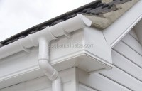 5.2 Inch Square Pvc Gutter Roof Drain Gutters 7 Inch Pvc ...