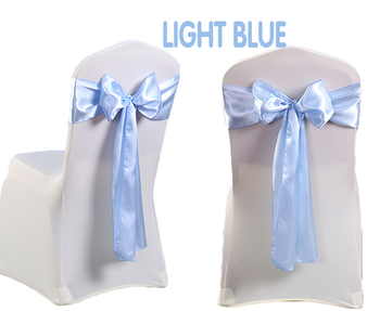 baby blue chair covers hot pink wingback unihome factory wholesal satin sashes light cover for wedding party decoration