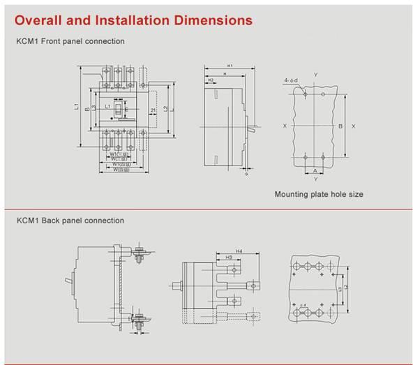 690v 63amp 3 Phase Mccb Ac Plastic Moulded Case Circuit