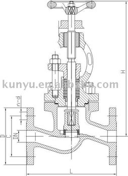 Marine over board screw down non return valve, View screw