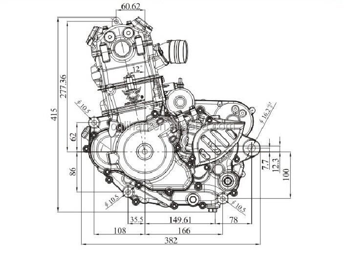 Single Cylinder Nc250 Zongshen 250cc Engine With Balance