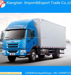160hp 4 2 8ton cargo truck 8000kg dry box truck [ 1000 x 1000 Pixel ]