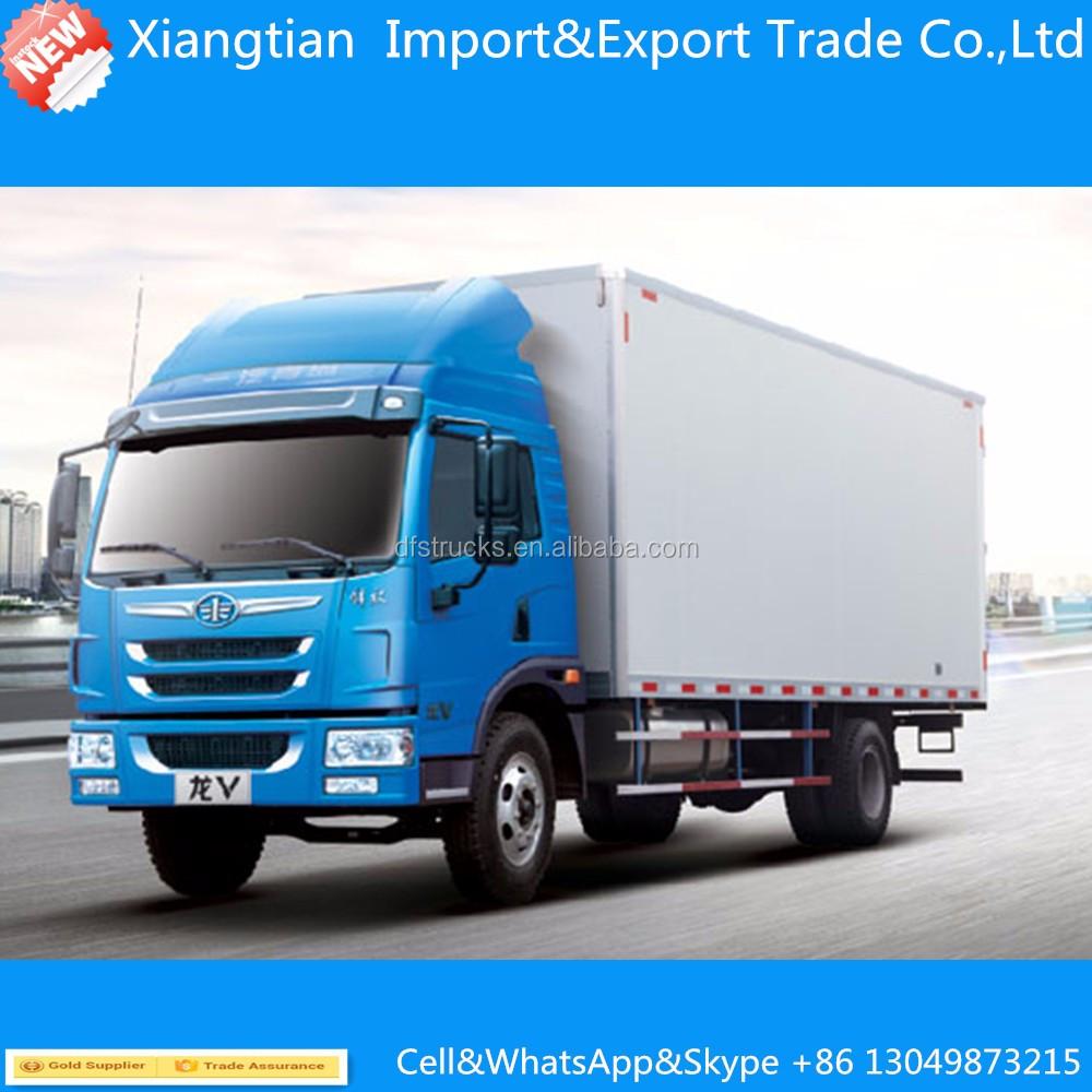 medium resolution of 160hp 4 2 8ton cargo truck 8000kg dry box truck