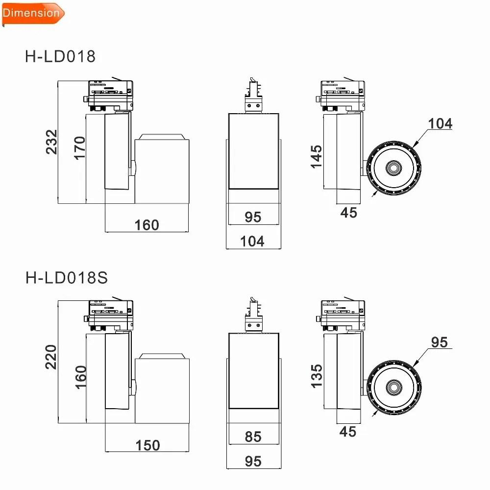 hight resolution of saa 30w 35 w shop global led track rail lighting track fixture light ce tuv