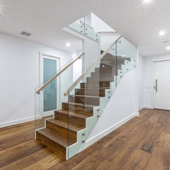 L Shaped Stair Side Stringer Staircase Steel Stone Stairs With   Staircase Side Railing Designs   Luxury Railing   Living Room   Modern Style   Beautiful   Stairway