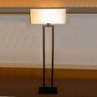 White Square Lampshade Standing Light Hotel Decorative ...