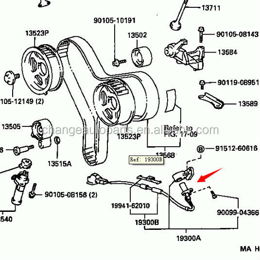 9091905021 90919-05021 Genuine Toyota Camshaft Crankshaft