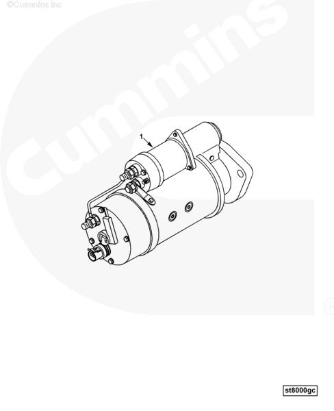 Cummins B3.3 Qsb3.3 12v 2.2kw Engine Starter Starting