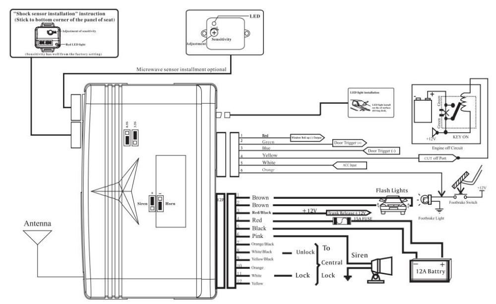 alarm contact wiring diagram